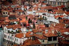 Sikt över Venedig från klockatornet, Italien Royaltyfri Foto