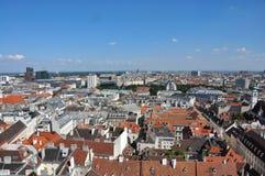 Sikt över vienna, Österrike arkivfoto