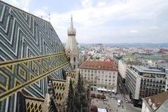 Sikt över Wien Arkivfoto