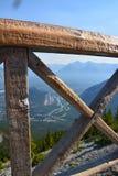 Sikt överst av Gondala i Banff Royaltyfri Fotografi