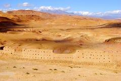 Sikt av öknen, Ait Ben Haddou, Marocko Royaltyfria Foton