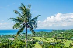Sikt av ön av Boracay Arkivfoto