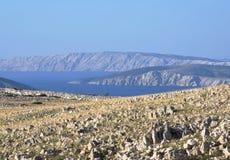 Sikt av ön av Rab royaltyfria foton