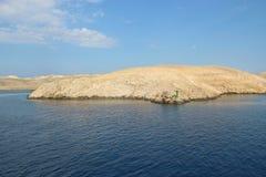 Sikt av ön Rab, Kroatien royaltyfri foto