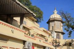 Sikt av överkanten, stadsslott, Udaipur Arkivfoto