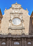 Sikt av abbotskloster av Santa Maria de Montserrat (som grundas i 1025), H Royaltyfria Bilder