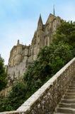 Sikt av abbotskloster från Mont Saint Michel – Frankrike Royaltyfria Bilder