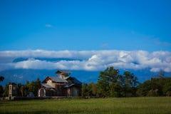 Sikt av Abchazien landskap och himmel Arkivfoton