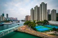 Sikt av Aberdeen, i Hong Kong, Hong Kong Fotografering för Bildbyråer