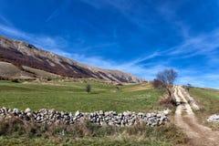 Sikt av Abruzzo Arkivbild