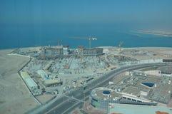 Sikt av Abu Dhabi, Förenade Arabemiraten Royaltyfri Foto