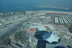 Sikt av Abu Dhabi, Förenade Arabemiraten Arkivbild