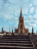 Sikt av Addolorata Cemetery Arkivbilder