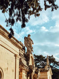 Sikt av Addolorata Cemetery Royaltyfria Foton