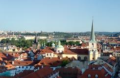 Sikt av aftonen Prague Royaltyfria Bilder