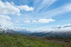 Sikt av Alaska Thompson Pass Arkivfoto