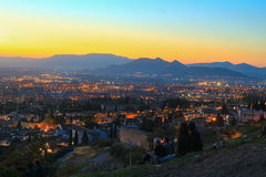 Sikt av Albazin i Granada, Spanien Royaltyfri Foto