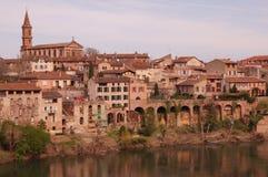 Sikt av Albi i Frankrike royaltyfria bilder