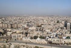 Sikt av aleppo i syria fotografering för bildbyråer