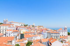Sikt av Alfama, Lissabon, Portugal Arkivbilder