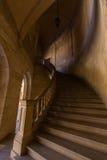 Sikt av Alhambra inre i Granada, Spanien Arkivbild