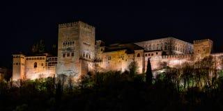 Sikt av Alhambra Palace i Granada, Spanien i Europa fotografering för bildbyråer