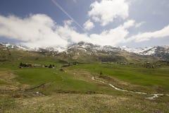 Sikt av Alp Flix Arkivfoton