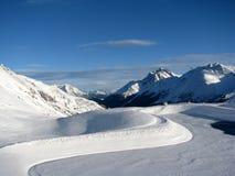 Sikt av Alps Royaltyfri Bild