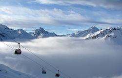 Sikt av Alps Royaltyfri Foto
