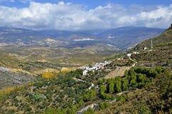 Sikt av Alpujarrasen Arkivfoton