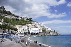 Sikt av amalfi, Italien Fotografering för Bildbyråer