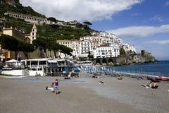 Sikt av amalfi, Italien Royaltyfria Bilder