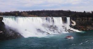 Sikt av amerikanska nedgångar som ses i Niagara Falls Fotografering för Bildbyråer