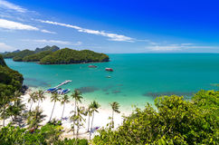 Sikt av Ang Thong National Marine Park Royaltyfri Fotografi