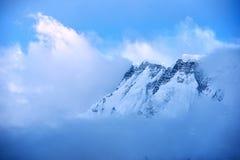Sikt av Annapurna område royaltyfria foton