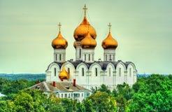 Sikt av antagandedomkyrkan i Yaroslavl, Ryssland Arkivfoton