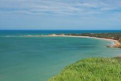Sikt av Apollo Bay, stor havväg Royaltyfria Foton