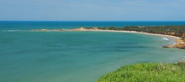 Sikt av Apollo Bay, stor havväg Fotografering för Bildbyråer