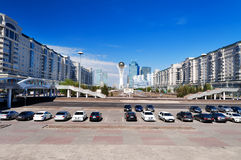 Sikt av Astana den moderna staden arkivfoton