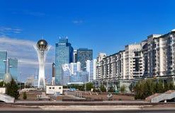 Sikt av Astana den moderna staden fotografering för bildbyråer