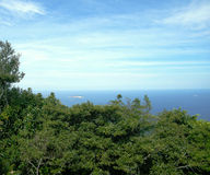 Sikt av Atlanticet Ocean i Rio de Janeiro Arkivfoton