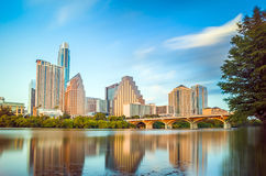 Sikt av Austin, i stadens centrum horisont Arkivfoto