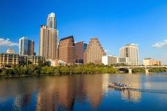 Sikt av Austin, i stadens centrum Texas Royaltyfri Bild