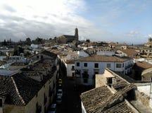 Sikt av Baeza, Spanien domkyrka Arkivfoton