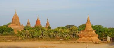 Sikt av Bagan tempel, Myanmar Arkivfoton