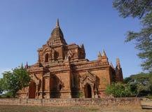 Sikt av Bagan tempel, Myanmar Arkivbilder