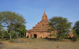Sikt av Bagan tempel, Myanmar Arkivfoto