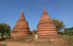 Sikt av Bagan tempel, Myanmar Royaltyfri Bild