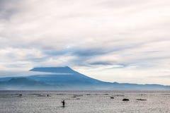 Sikt av Bali och vulkan Royaltyfria Foton