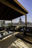 Sikt av balkongen i Barcelona, Spanien Royaltyfria Foton